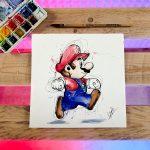 Aquarelle Mario 20x20 40€