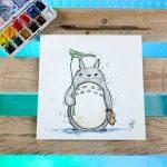 Aquarelle Totoro 20x20 40€