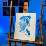Toile Acrylique Elsa 40x30 brille dans la nuit 250€