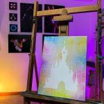 Toile Acrylique Pour Pins Château 40x30 ( choix de couleur sur demande) 40€